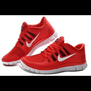 Nike Free red shoes